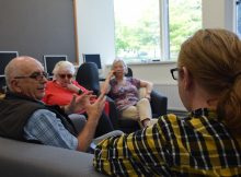 CODAH researcher talking to sight impaired digital users